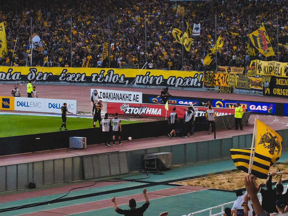 ΑΕΚ-Λεβαδειακός 2-0 (μετά το δεύτερο γκολ)