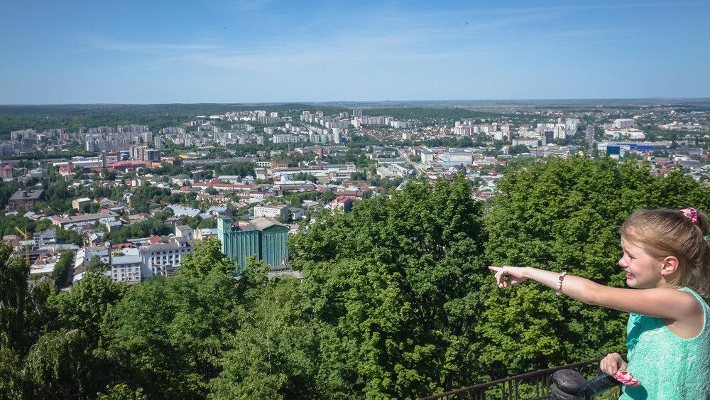 Η θέα απ' το κάστρο της Λβιβ