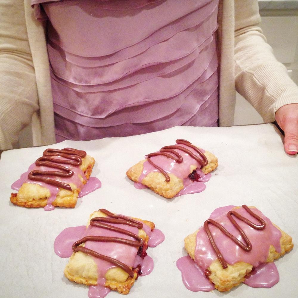 nutella raspberry breakfast tart