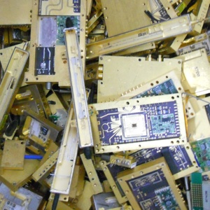 Image of assorted computer scrap shipped to Specialty Metals by a customer to be recycled for the gold, silver, platinum, and palladium they contain.