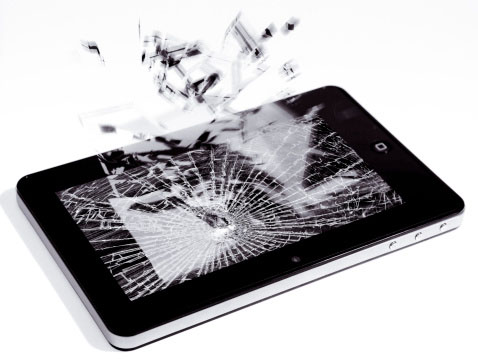 Image of used, broken tablet computer containing gold and precious metals that can be recycled profitably by best gold refiners Specialty Metals.