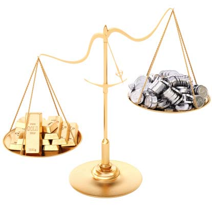 Image of a scale showing how troy ounces are used in recycling and refining of precious metals like gold and platinum by Specialty Metals.