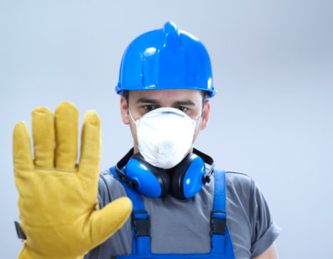 Image of Specialty Metals refiner wearing protective gear urging consumers to leave precious metals recycling to the professionals.