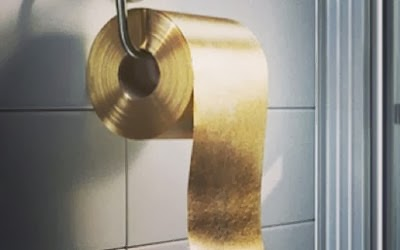 Photo of 22-Karat gold toilet paper, courtesy of the Odd and Strange blog, which reminds us that gold can be found in the strangest places, but that Specialty Metals can turn it into profit for you.