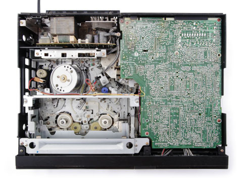 Shown: gold-bearing circuit board inside of a VCR, which can be recycled and refined by Specialty Metals.