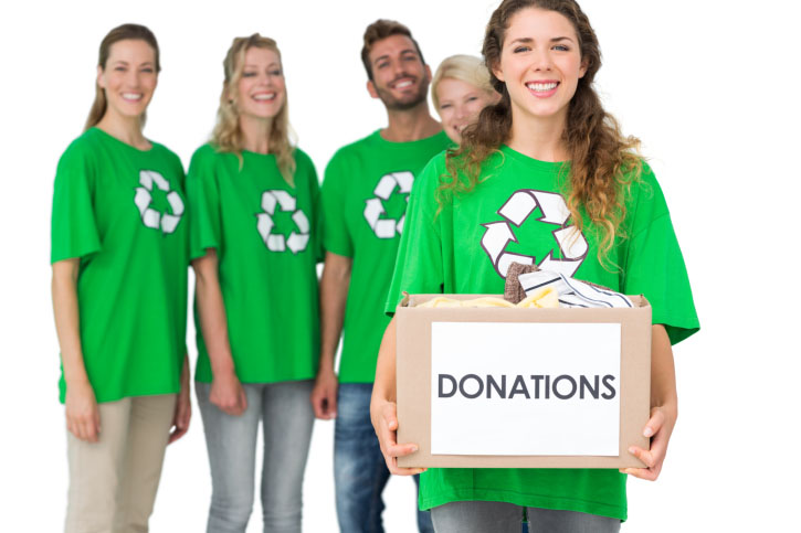 Photo of people in a recycling drive to collect gold-bearing devices like old phones to raise money for their favorite cause with the help of a qualified gold refinery like Specialty Metals.