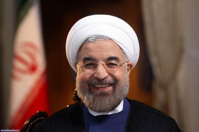 Iranian President hassan rouhani, courtesy of frontpagemag(dot)com.