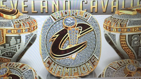 Photo of 2016 Cleveland Cavaliers Championship Rings, Courtesy of Richard Jefferson on Snapchat.
