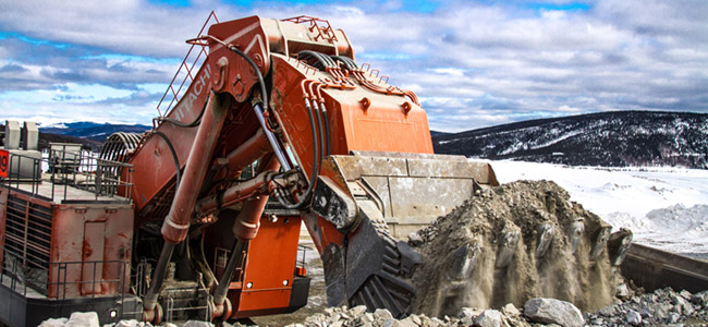 Mining excavator. Image courtesy of Alaska Miners Association