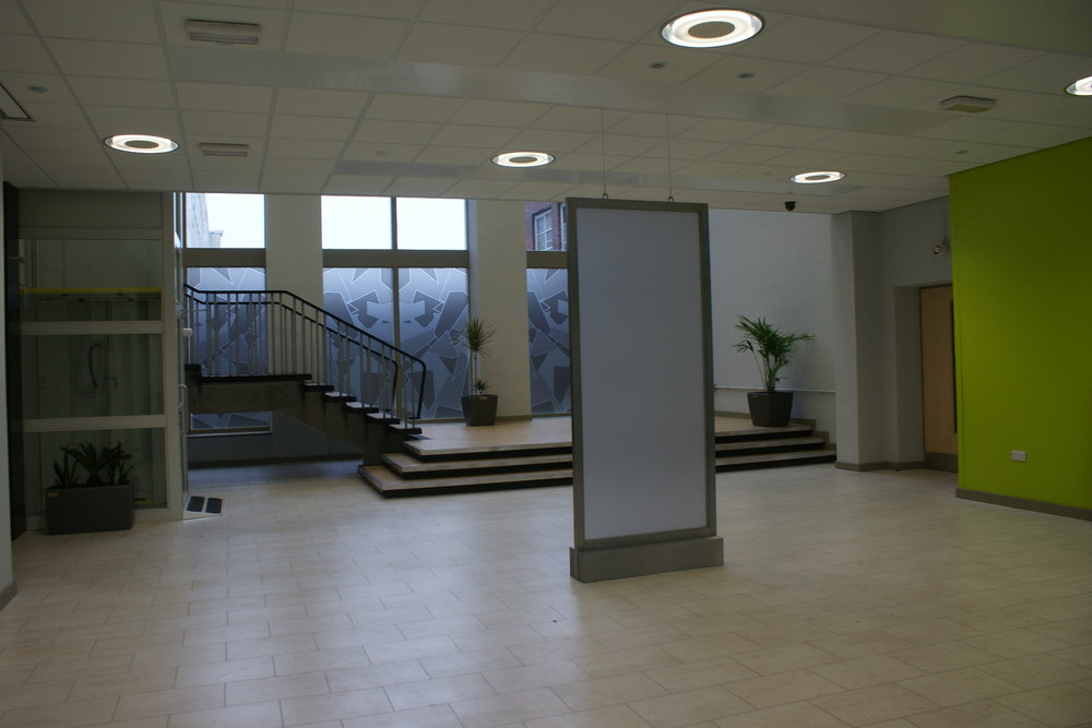 The reception area.