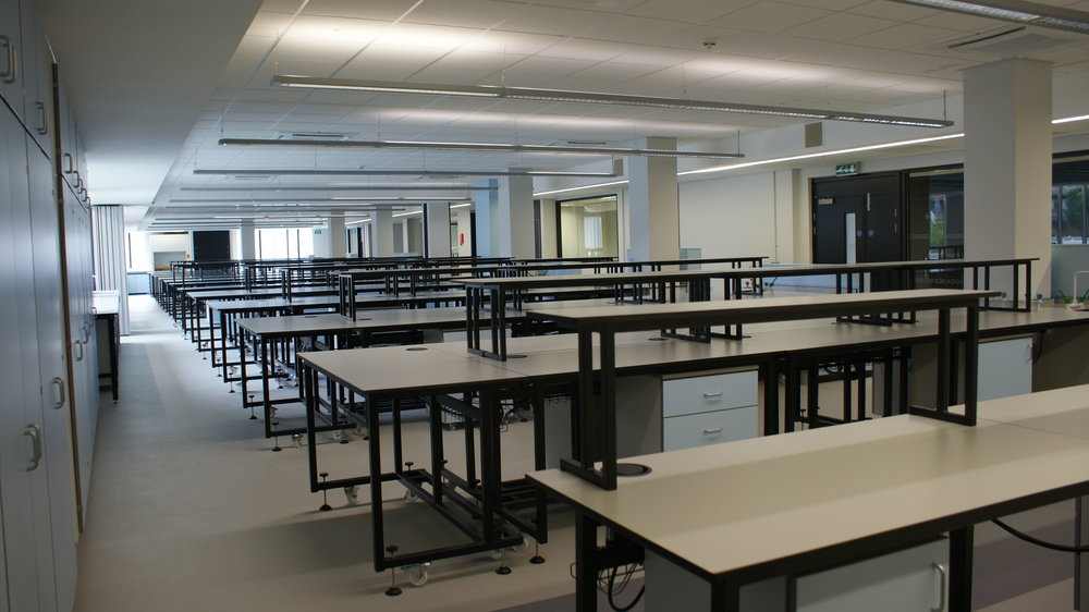 New teaching space for the faculty of biological sciences.