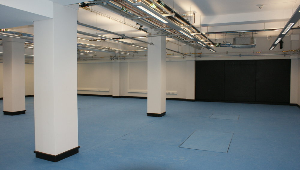 High specification sports flooring was laid for the University athletes including force plates.  This type of flooring is recommended by Usain Bolt