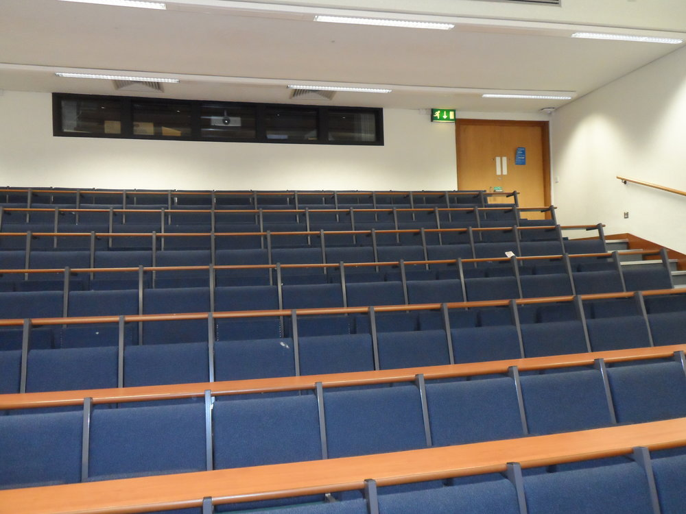 Worsley Dental Lecture Theatre before works commenced.