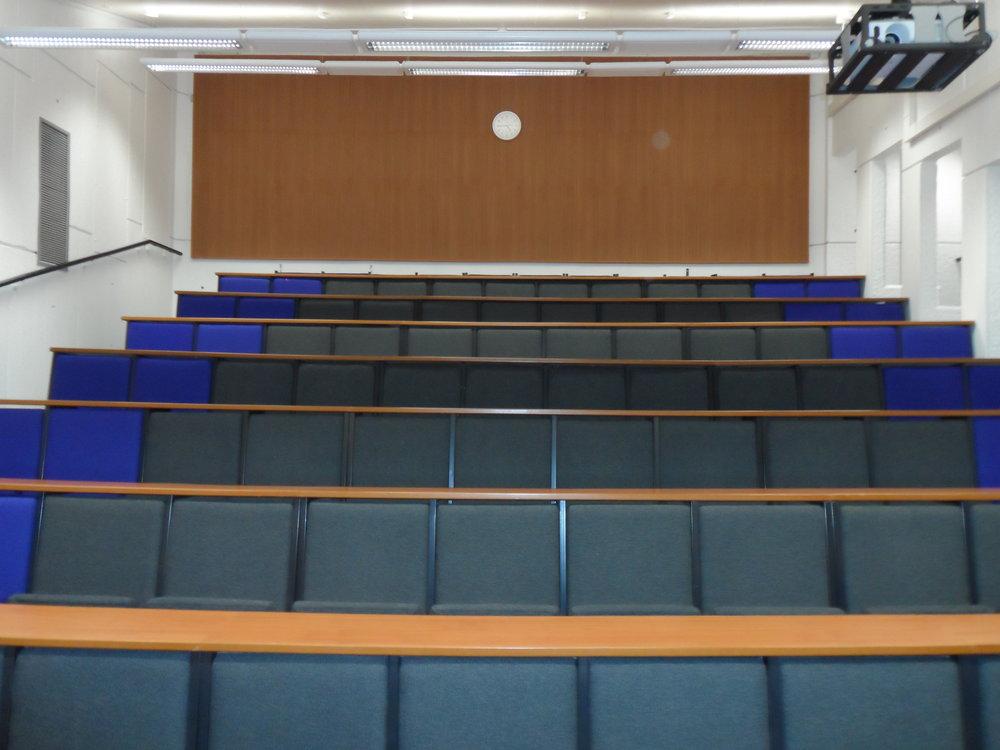 Roger Stevens Lecture Theatre 8 before remodelling works began.