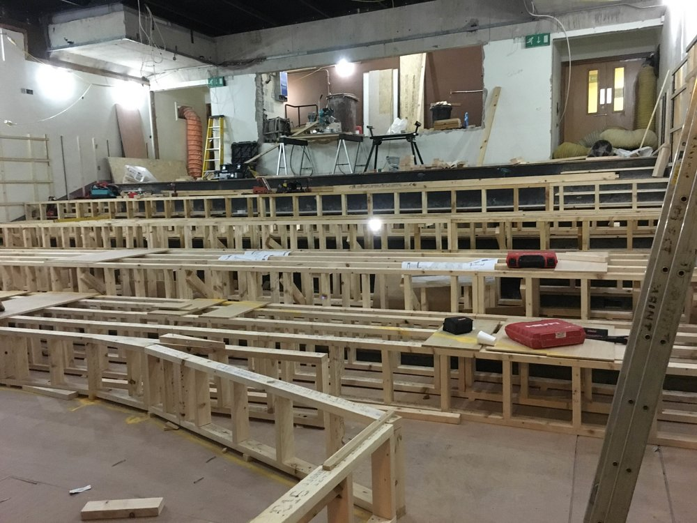 The tiering for the new seating configuration.