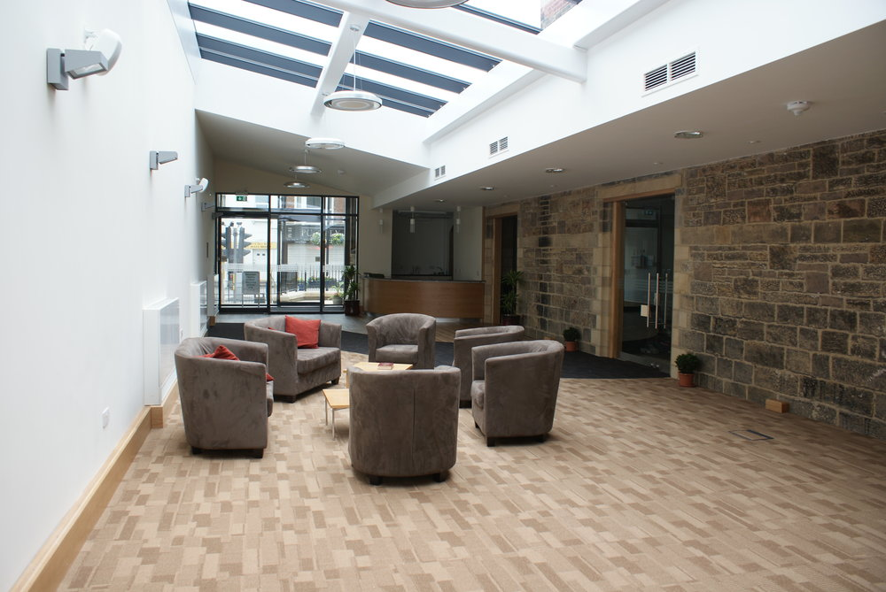 The welcome area after handover.