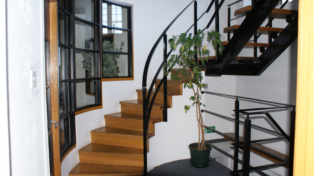 A new feature staircase was included in the construction.