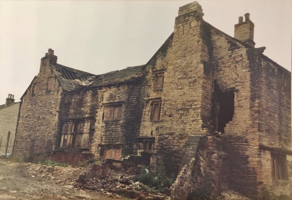 The rear of the Paper Hall, before restoration works began.