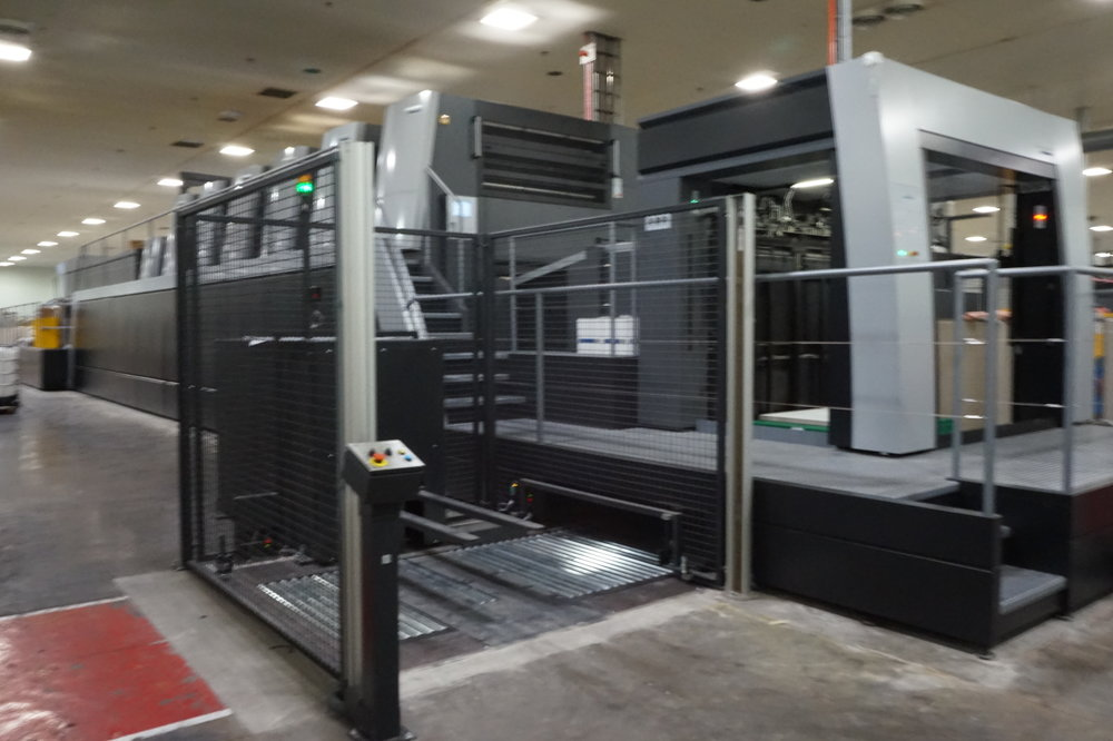 The printing press is capable of printing 15,000 sheets per hour.
