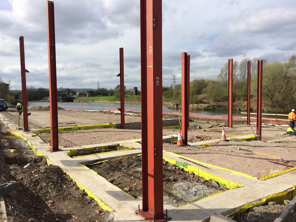 photo 8 - Steel connected to Reinforced Ground Beams.JPG