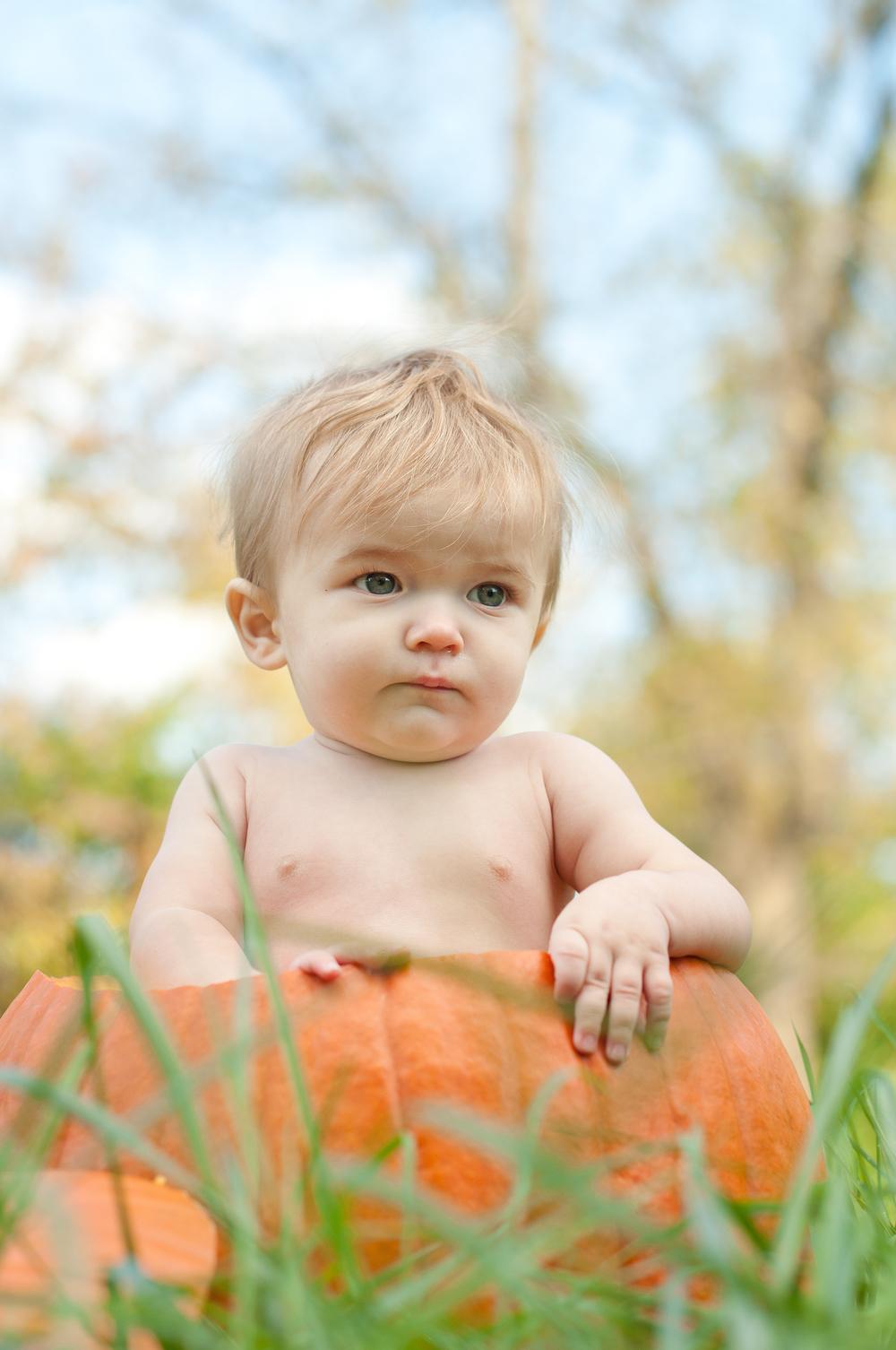 Such a cute little pumpkin