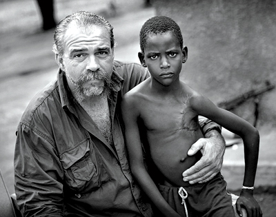 Sam Childers  Click the Picture to see an article about this mans controversial life.  This article is not a positive  to Childers but it is think with info.