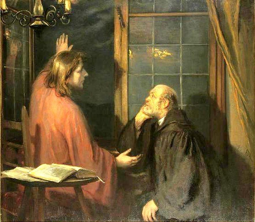 Christus und Nicodemus : Fritz von Uhde