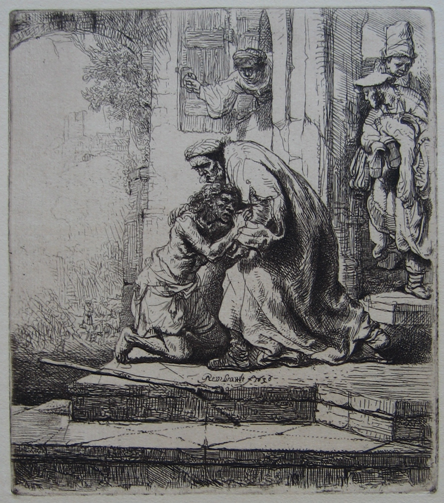 Rembrandt - Prodigal Son Etching