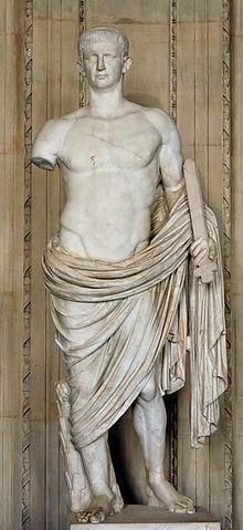 A statue of Roman EmperorClaudius.