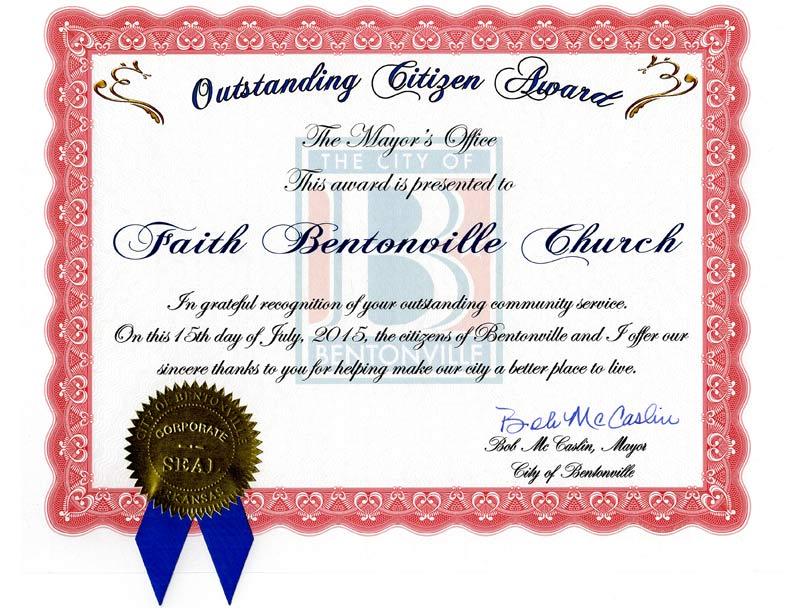 2015 bentonville citizenship award winner faith bentonville