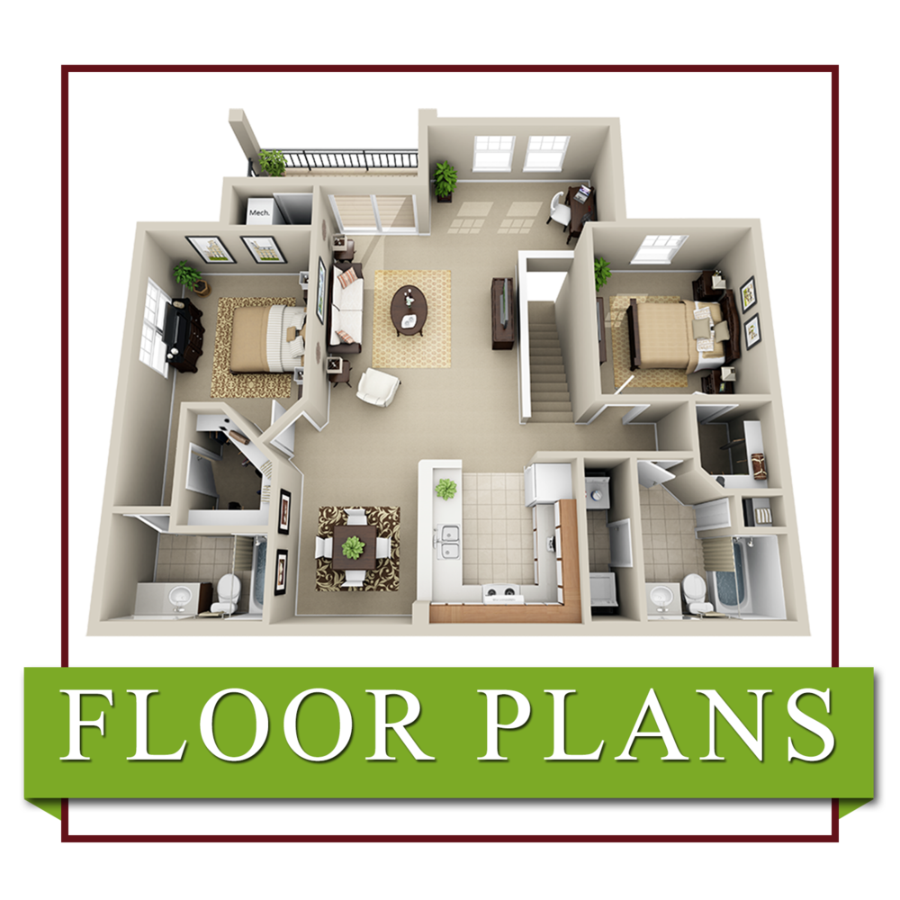 Brookridge Heights Apartments | Floor Plans