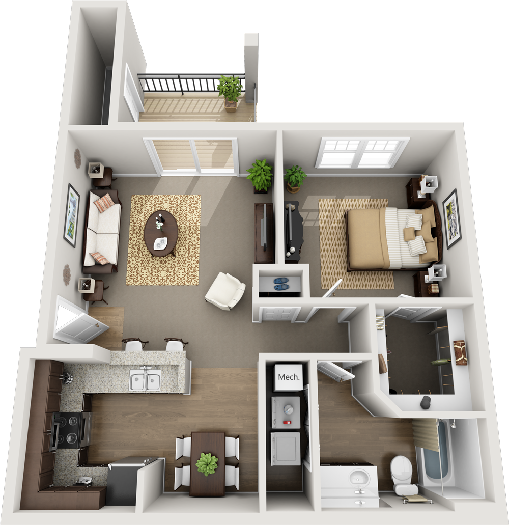UNIT A: ONE BEDROOM