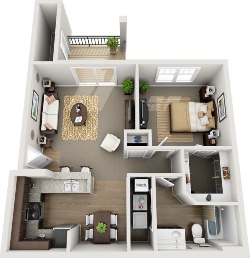 One Floor Apartments floor plans — brookridge heights apartments | apartments in