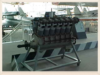 An original Liberty V-12 on display at The Museum of Flight.