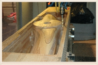 With the data from the scan of the original prop, Cimtech used their CNC router to make us an accurate test prop.