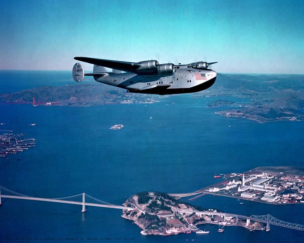The massive Boeing 314 flying boat was an icon of the Golden Age of passenger flight.  (Library of Congress)