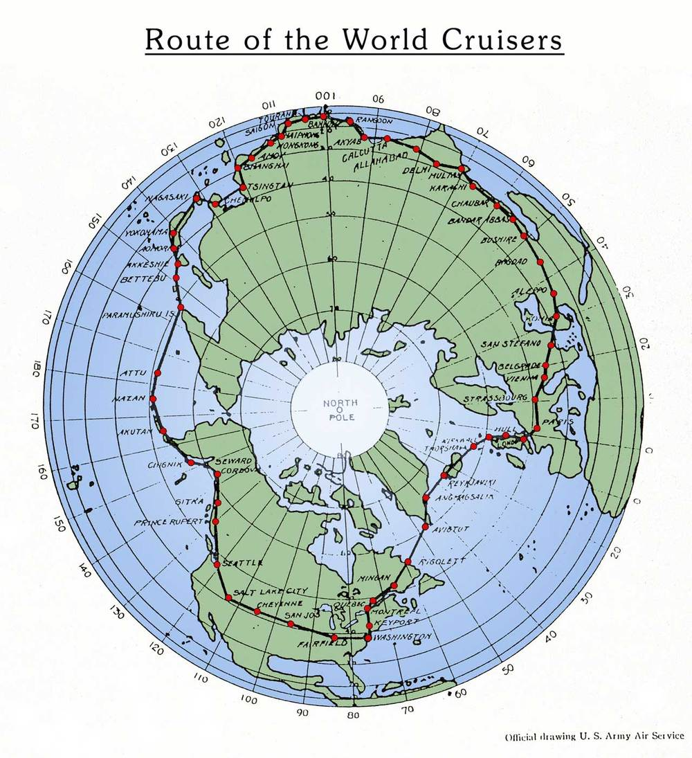 The route of the World Cruisers.