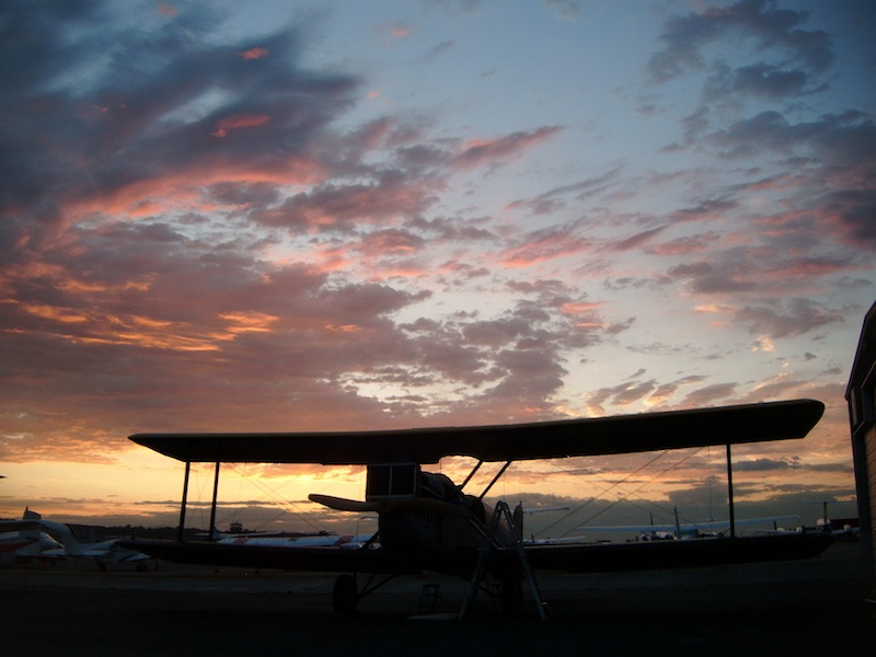Sunset at Boeing Field.