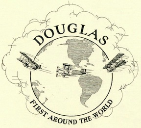 Douglas' proud motto and emblem resulting from the successful World Flight of 1924.