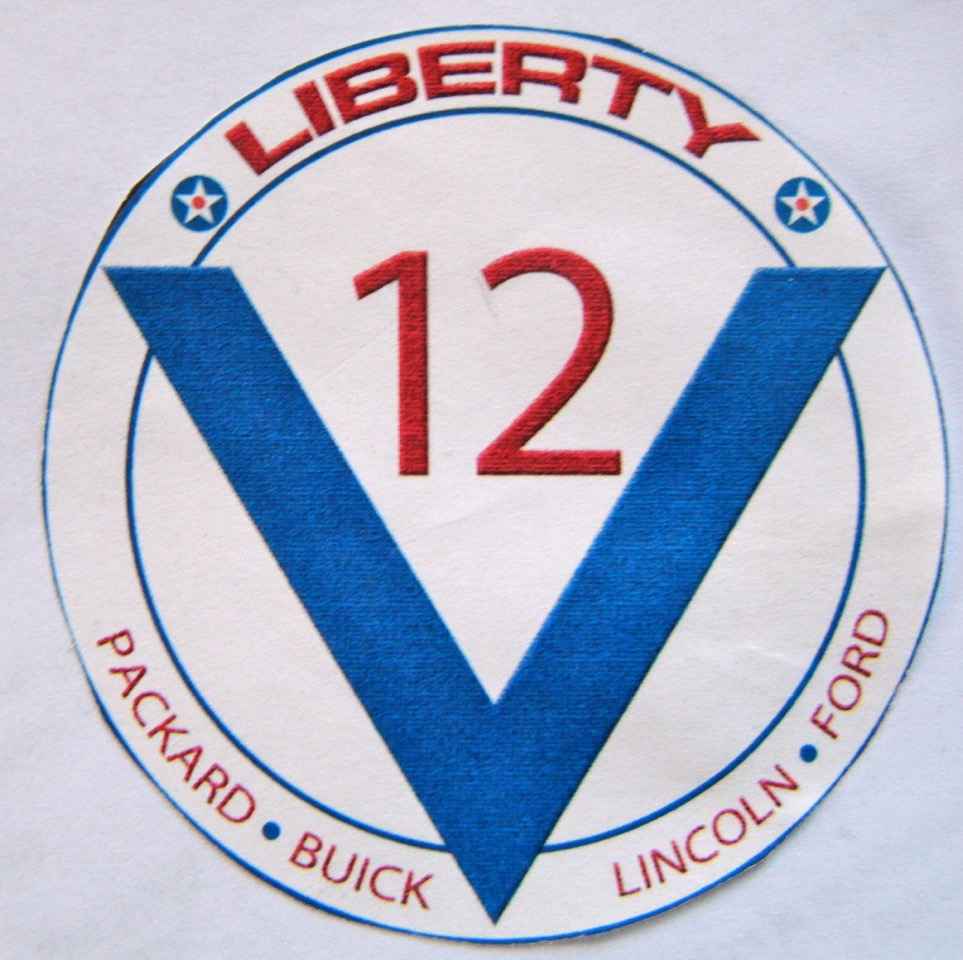Back at Renton with Bob and PJ's Liberty V-12 patch.
