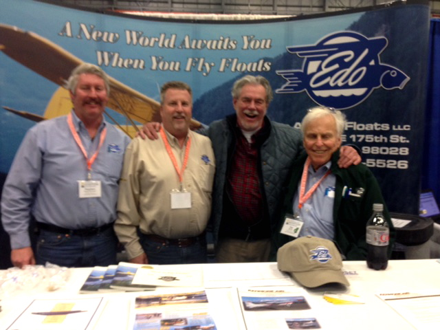 Bob & Diane visit the Alaska Trade Show & our friends at Edo, scouting out a set of floats.