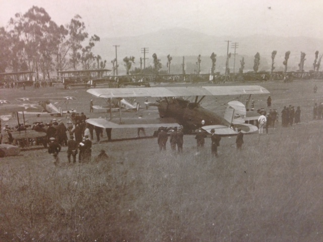 Another photo donated by Fred of some of the aircraft at Clover Field that day. The field   was the site of the Douglas Aircraft Company. Today it is known as Santa Monica Airport.