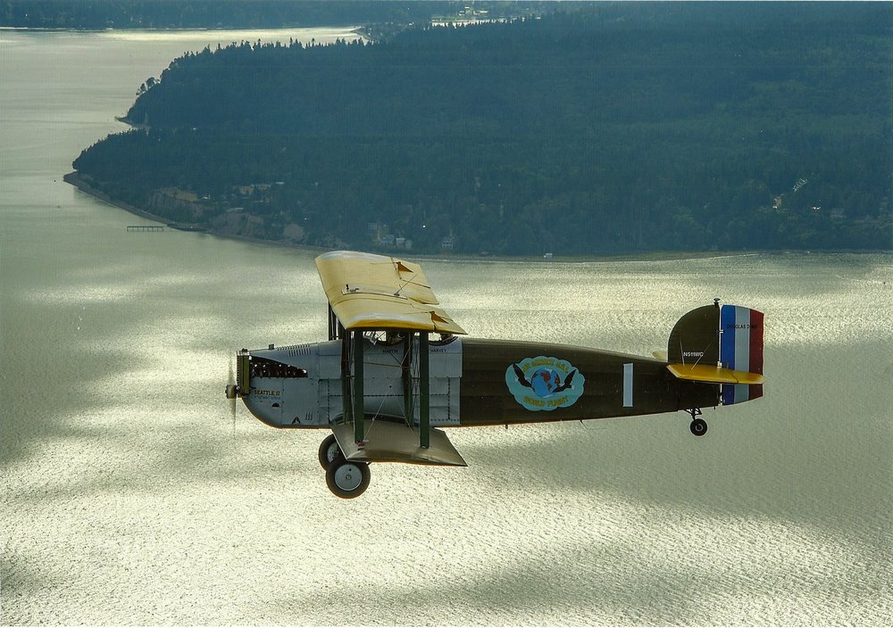 In flight over Puget Sound.                               (Image courtesy Jim Larsen)