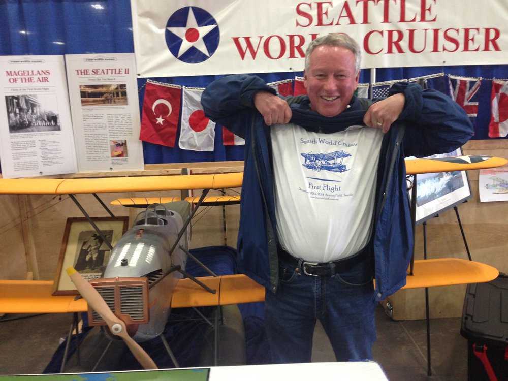 Keith Littlefield, pilot and longtime World Cruiser supporter, shows his enthusiasm for our project!