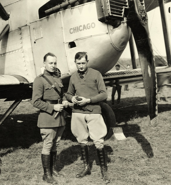 Lt. Arnold and Lt. Smith.  (Image courtesy of San Diego Air and Space Museum)