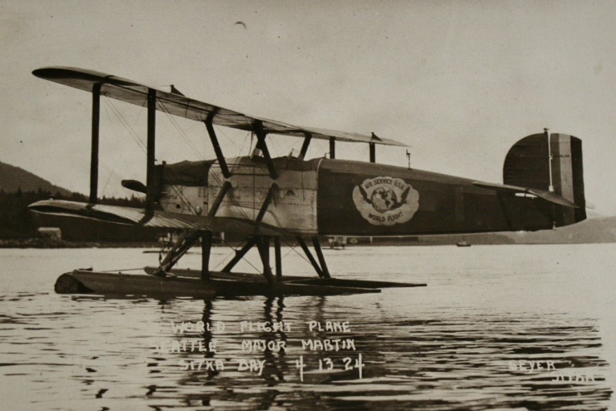 The Seattle afloat on Sitka Bay before departing for Seward. (Alaska Aviation Museum)