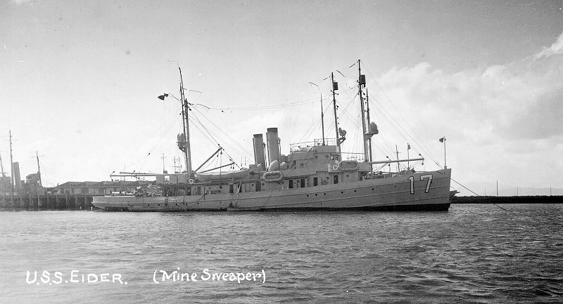 For diplomatic reasons, the crew stayed aboard the U.S.S. Eider (United States Navy)