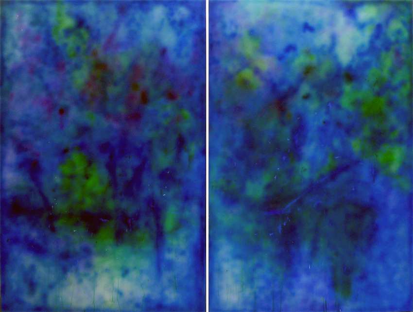 "CoCo 27 (diptych) oil and acrylic on canvas 72"" x 96"" / 183 cm x 244 cm 2014"