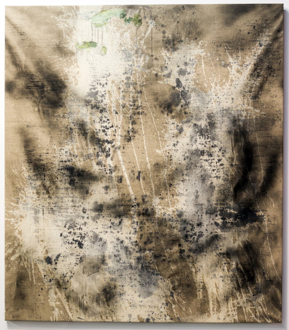 MLSL_03_Zeldah  , 2015  Oil, acrylic, bleach and spray paint on linen  80 x 70.13 in (203.2 x 178.13 cm)