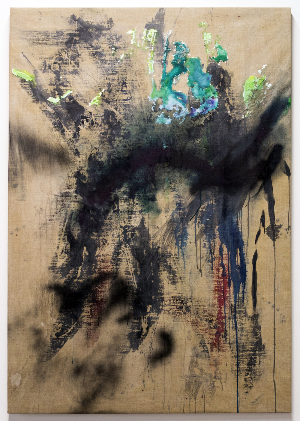 MLSL_08_Roxy  , 2015  Oil, acrylic, lead and spray paint on linen  67 x 46.5 in (170.18 x 118.11 cm)